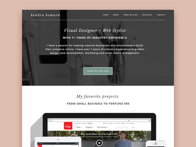 Personal Portfolio + Branding   Kendra Howard