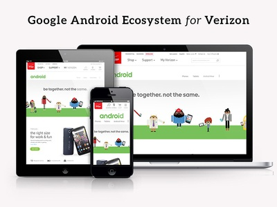 Google Android Ecosystem Landing Page for Verizon