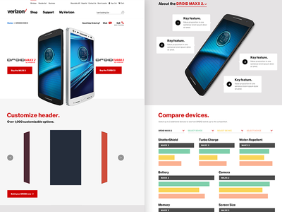 'Droid Does' Landing Page Concept for Verizon