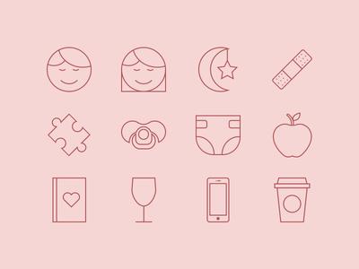 Mom Essentials Icons
