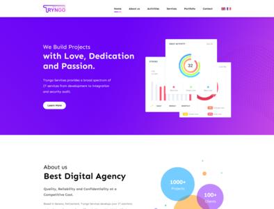Tryngo Website Redesign uidesign prototype redesign design responsive design website web design