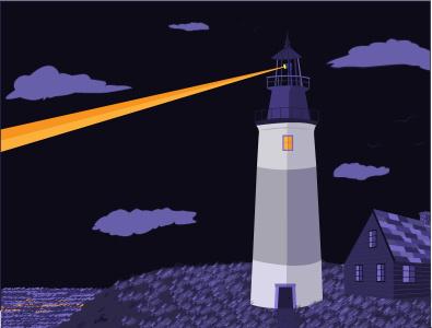 Lighthouse drawing conceptual ui design cape cod nighttime ocean lighthouse beach ui ux design illustrator illustration