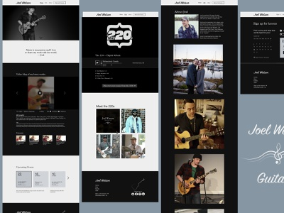 Joel Watson Portfolio Shot illustrations visual design desktop portfolio design web design website musician ux ui illustration ui design sketch design