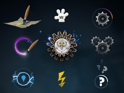 Epic Mickey 2 Video Game - HUD Icons disney mickey mouse ui retro game