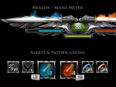 The Lord of the Rings Game UI ui meter game