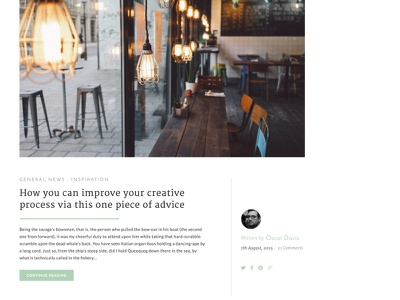 'Quill' Sketch Template (Latest Article) themmed free ui sketch
