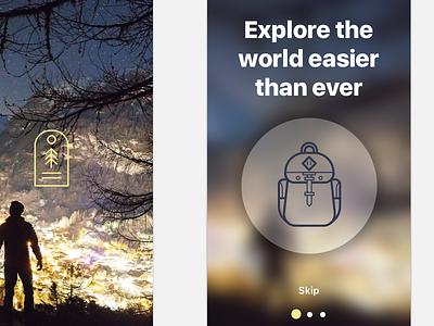 Travel App - Tutorial WIP sketch app sketch app mobile ui