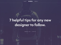 My new Blog (mrcndrw.com) Article Header ux ui typography
