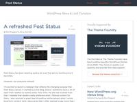 Post Status redesign