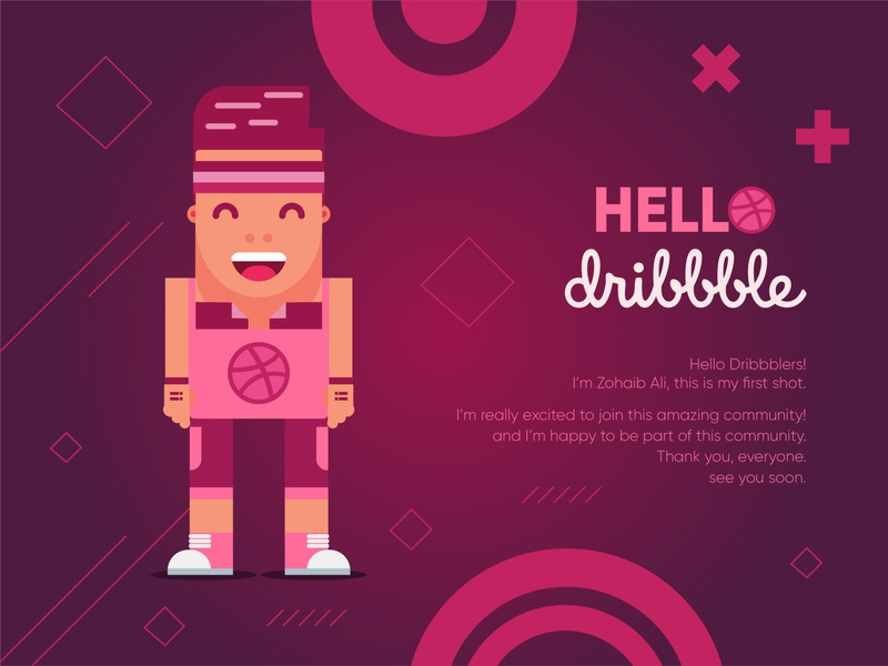 Hello Dribbble icon flat clean graphicdesign typography ux ui logo lettering artist lettering art animation illusionist vector cartoon character brand identity brand illustration