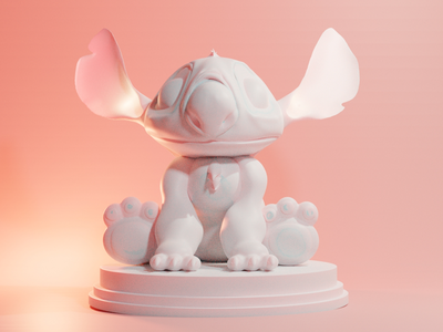 Stitch 3d blender zbrush speedskulpt