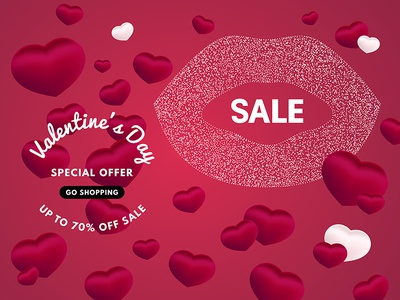 9e04351047 Valentine s day Sale banner for Shop or design for cards. by MariMi ...