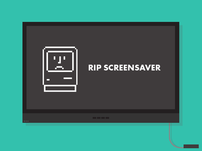 Sad, sad day. sad apple tv screensaver