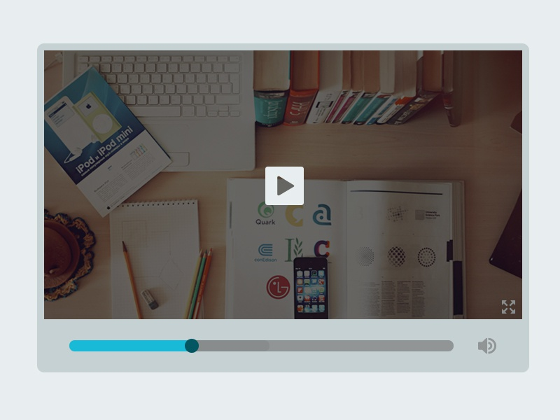 Simple Video Player video player simple flat freebie psd