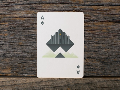 Ace of Spades ace spades playing cards card temple castle