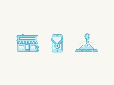A Shop, a Phone, and a Story imagination small business icons mobile first story phone shop