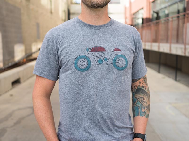 Cafe Racer Shirt underbelly illustration shirt cafe racer