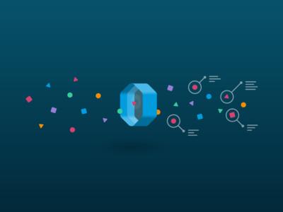 Data Recognition hexagon portal illustration data