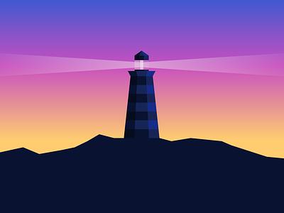 Vision sunset vision lighthouse
