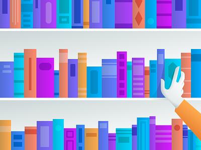 Contributing illustration hand library books