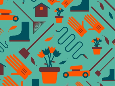 Yardcare Pattern yard care illustration