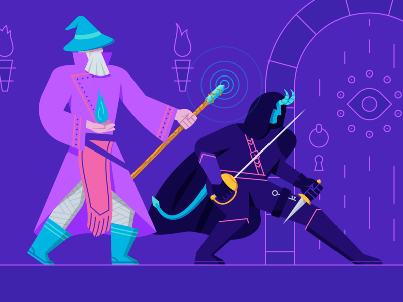 Delving Dungeons with Designers dungeons and dragons dnd tiefling rogue wizard dungeon illustration design