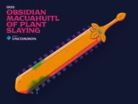 005 Obsidian Macuahuitl of Plant Slaying