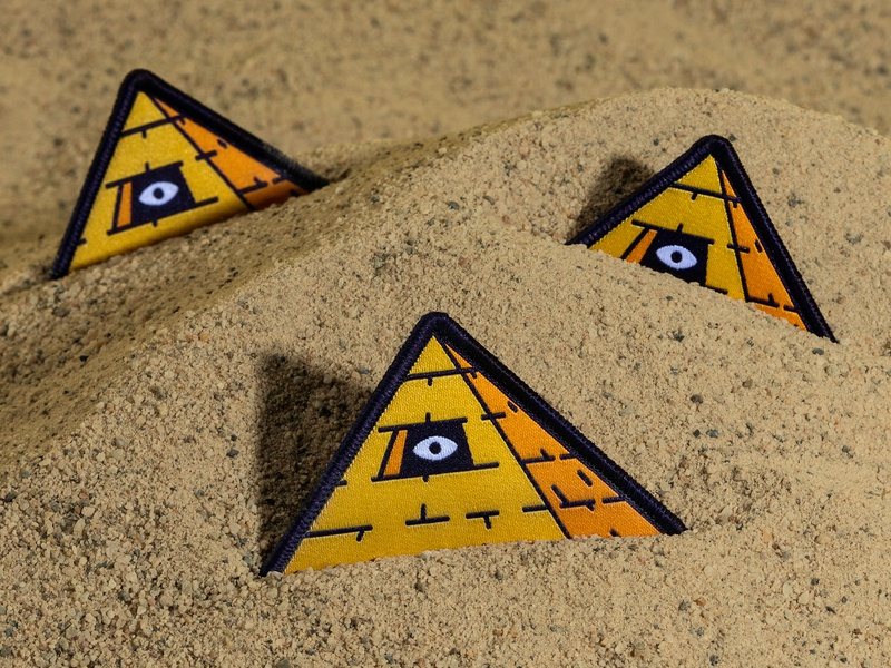 Kinda Seeing Eye Patch all seeing eye pyramid patch