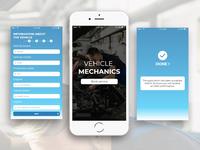 UI mobile app car workshop