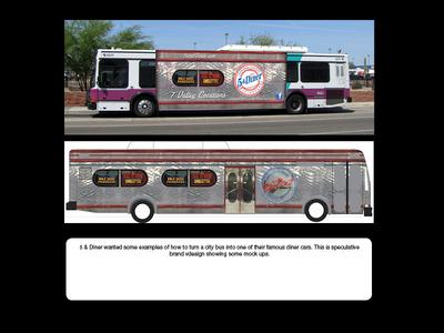 5 & Diner - Diner Car Wrap