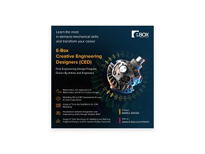 E-Box Social Media Promotion Poster illustraion promotion social media vector design branding