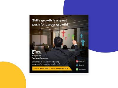 E-Box Social Media Promotion Poster Design graphic design e-learning promotion social media vector illustration branding