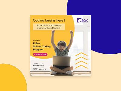 E-Box Social Media Promotion Poster illustration graphic design e-learning branding promotion social media poster design
