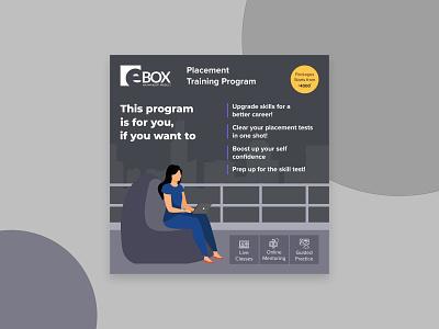 E-Box Social Media Promotion Poster social media branding illustraion vector graphic  design