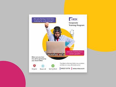 Social Media Promotion e-learning promotion poster design branding design illustration graphic design