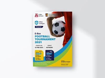 E-Box Football Tournament Poster sports design promotion football sports e-learning design graphic design social media illustration branding