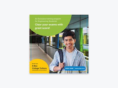 E-Box Colleges Promotion Poster instragram promotion digital marketing college poster design e-learning graphic design social media illustration branding