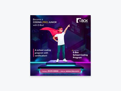 E Box Social Media Promotion website digital marketing design promotion e-learning poster design social media graphic design illustration branding