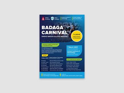 E-Box Colleges Badaga Carnival Poster south indian fest badaga carnival festival poster social media posterdesign typography digital marketing vector graphic design design illustration branding