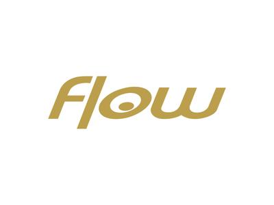 Flow simple corporate branding logo identity minimal design