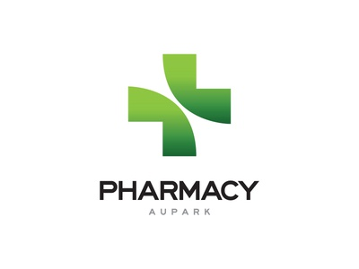 Pharmacy Aupark minimal corporate branding design identity logo simple