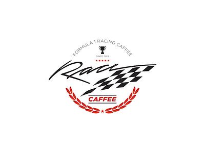 Race Caffee simple logo design minimal identity corporate branding