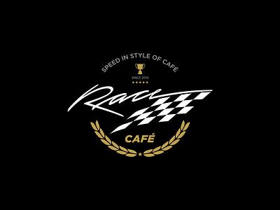 Race Café corporate design simple logo identity minimal branding