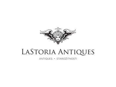 La Storia Antiques simple corporate design branding identity minimal logo