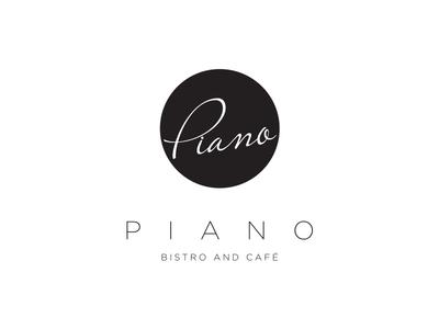Piano Bistro and Café branding identity design minimal corporate simple logo