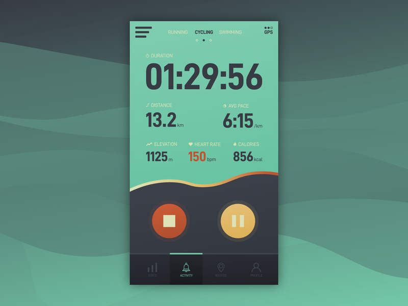Running App Concept mobile app cycling app running app running run ux ux-ui ui