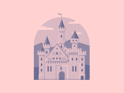Castle flatdesign flat illustration fortress castle