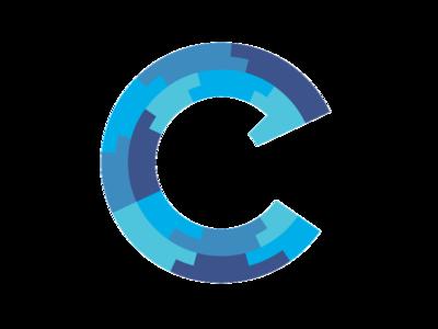 c logo 2 logo c alphabet geometric design graphics identity blue