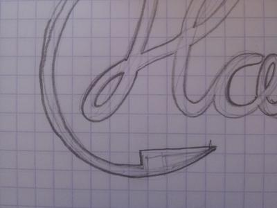 H Logo Sketch h logo sketch handdrawn sketchbook pencil paper rough wip