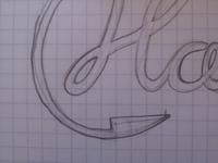 H Logo Sketch